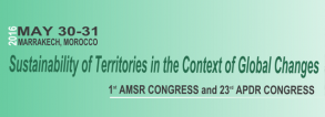 Congress: Sustainability of Territories in the Context of Global Changes
