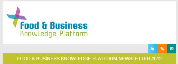 Food & Business Knowledge Platform Newsletter 12