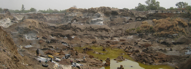 Geological fieldwork in Burkina Faso