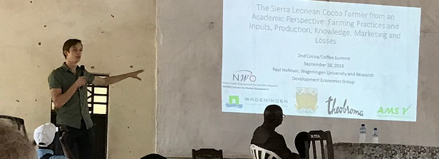 Research presentation at the National Cocoa and Coffee Conference in Sierra Leone
