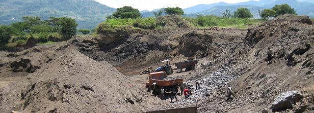 Rock prospecting in Kenya