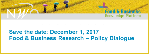 Save the date Food & Business Research – Policy Dialogue