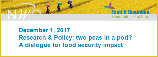 Research & Policy: two peas in a pod? A dialogue for food security impact