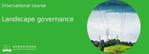 WCDI course Landscape governance