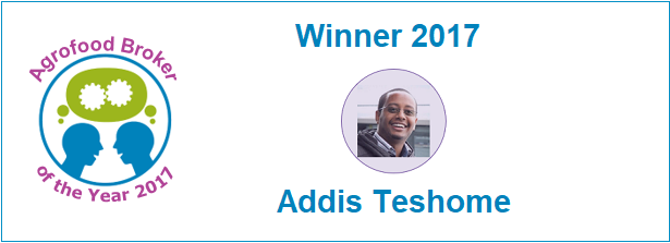 Agrofood Broker of the Year Award 2017 - Winner Addis Teshome