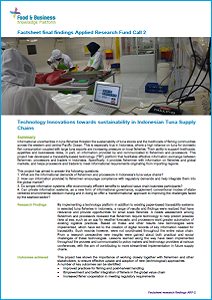 ARF-2 factsheet: Technology innovations towards sustainability in tuna supply chains Indonesia