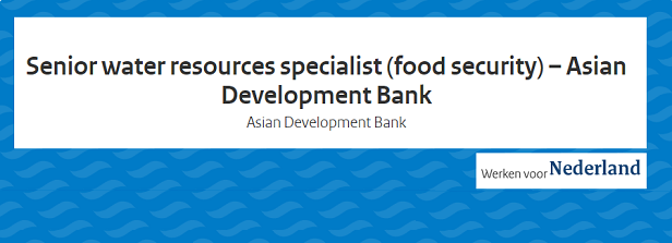 Senior vacancy at Asian Development Bank