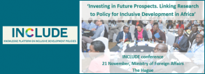 """INCLUDE Conference Ïnvesting in Future Prospects""""- November 21, 2018"""