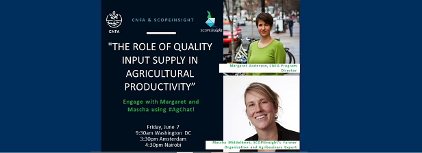 Twitter chat: Role of quality input supply in agricultural productivity