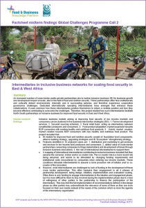 GCP-2 midterm factsheet - Intermediaries in inclusive business networks for scaling food security in East & West Africa