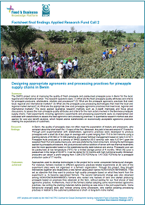 ARF-2 project Benin DAPIS factsheet final findings