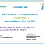 Winner Agrofood Broker of the Year 2019