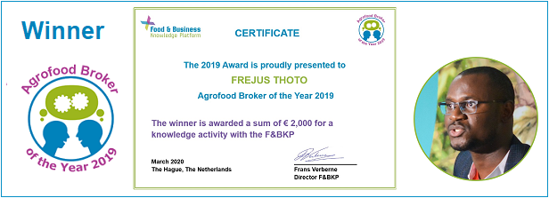 Agrofood Broker of the Year 2019: Frejus Thoto (ACED Benin)