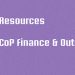 CoP Finance & Outreach Resources