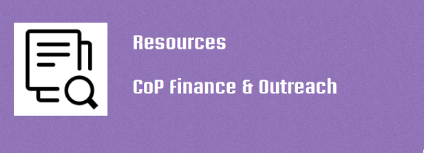 Resources CoP Finance & Outreach