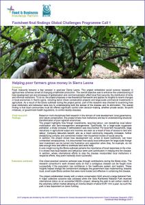 GCP-1 final factsheet Helping poor farmers grow money