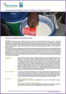 GCP-1 final factsheet Zambian traditional fermented foods