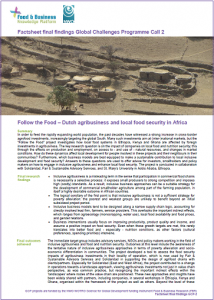 GCP-2 project Follow the Food final factsheet