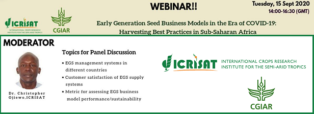 Webinar: Early Generation Seed Business Models in the era of COVID-19